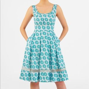 Springtime blue floral dress